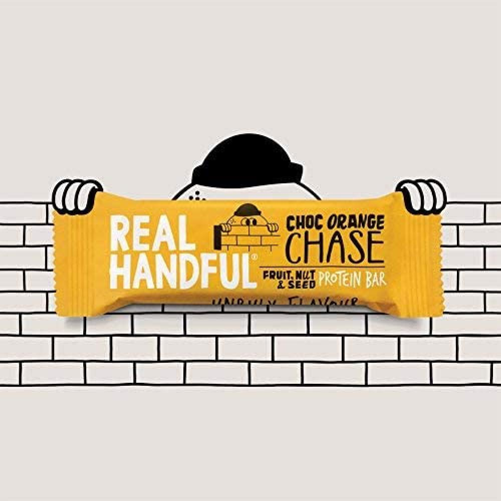 Real Handful Choc Orange Chase Fruit Nut and Seed Protein Bar 40 g