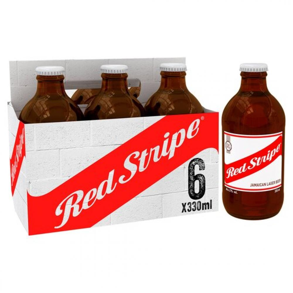 Red Stripe Jamaica Lager Beer 6 x 330ml