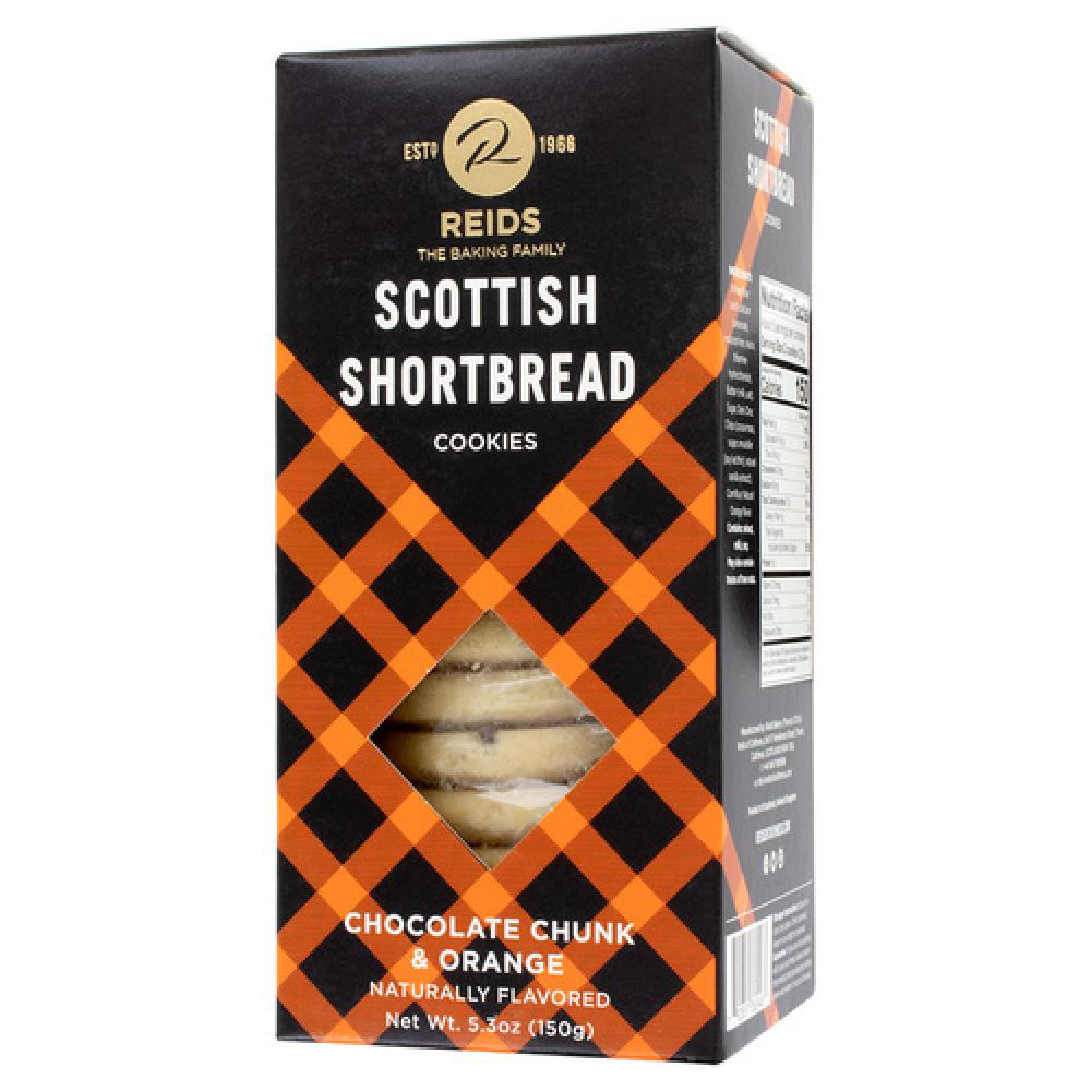 Reids Of Caithness Shortbread Collection Chocolate Chunk and Orange 150g