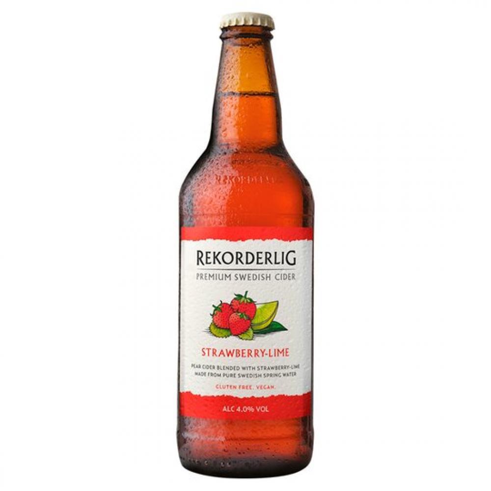 Rekorderlig Premium Strawberry Lime Cider 500ml