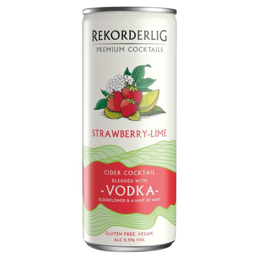 Rekorderlig Strawberry Lime and Vodka 250ml