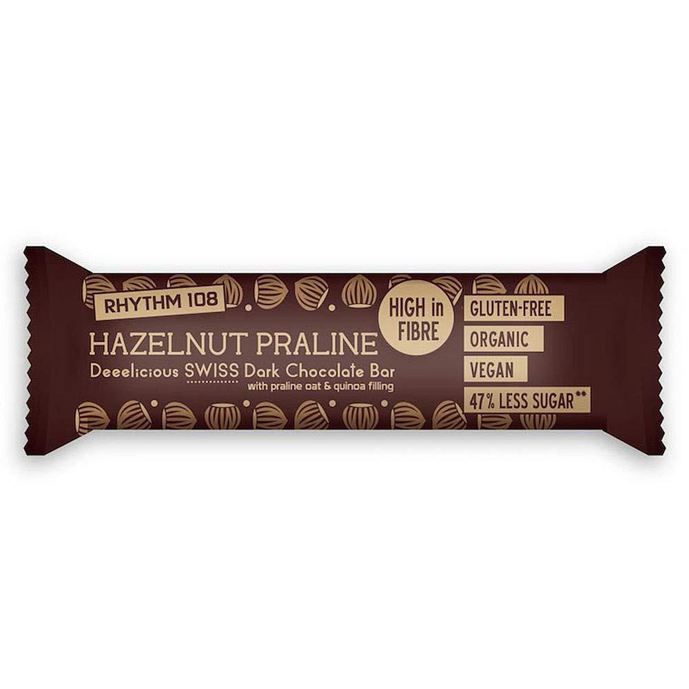 Rhythm 108 Hazelnut Praline Swiss Chocolate Bar 33g
