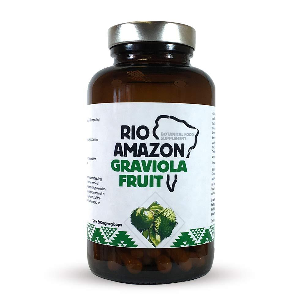 Rio Amazon 500 mg Graviola Fruit Extract 120 Capsules