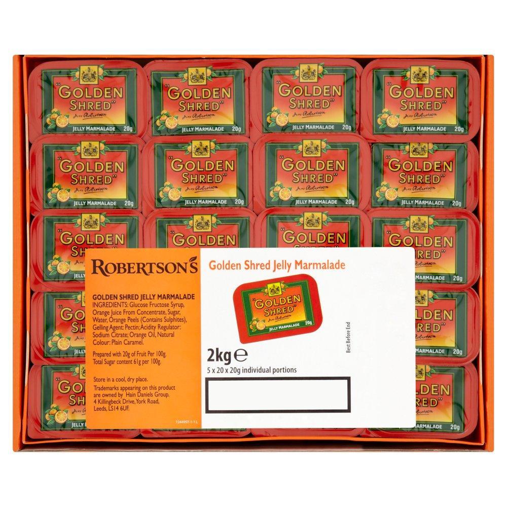 Robertsons Golden Shred Fine Cut Orange Jelly Marmalade 100 Portions 2kg