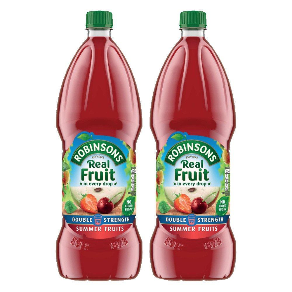 Robinsons Double Concentrate Summer Fruits No Added Sugar 1750ml Twin Pack