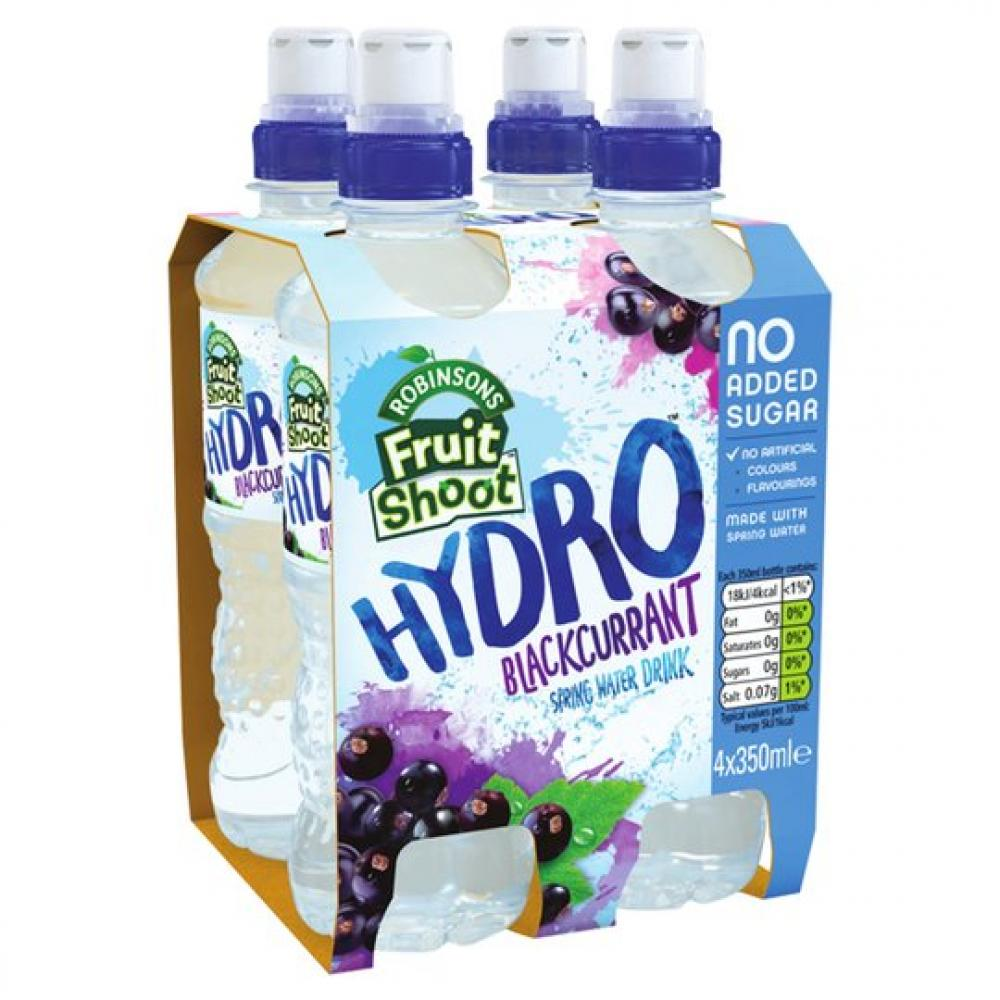 Robinsons Fruit Shoot Hydro Blackcurrant Spring Water Drink 4 x 350ml