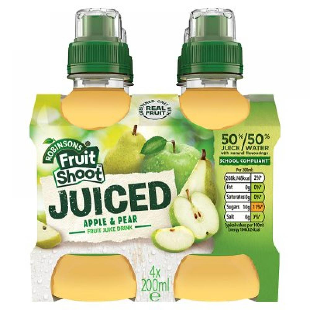Robinsons Fruit Shoot Juiced Apple and Pear 200ml x 4