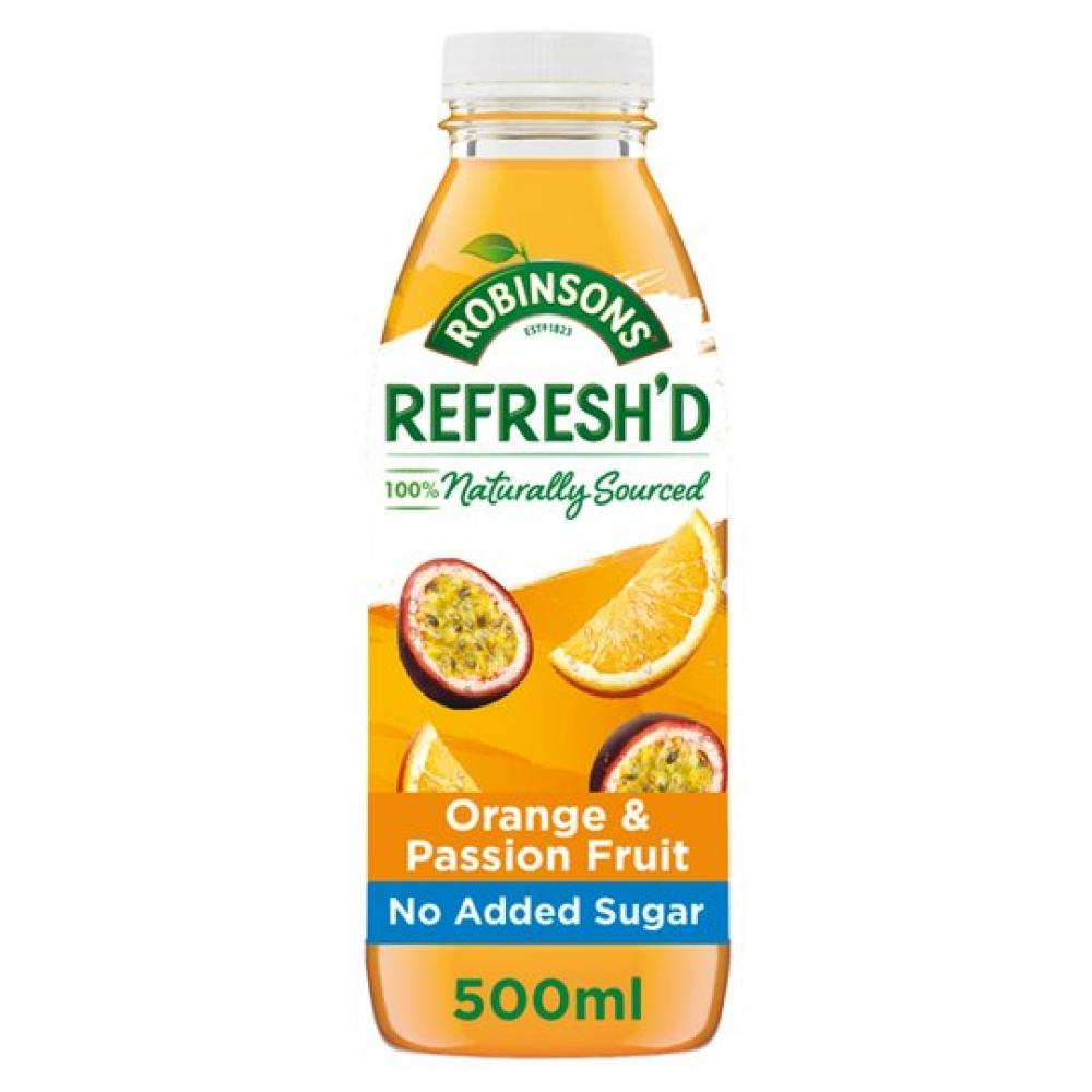 Robinsons Refreshd Orange and Passionfruit 500ml