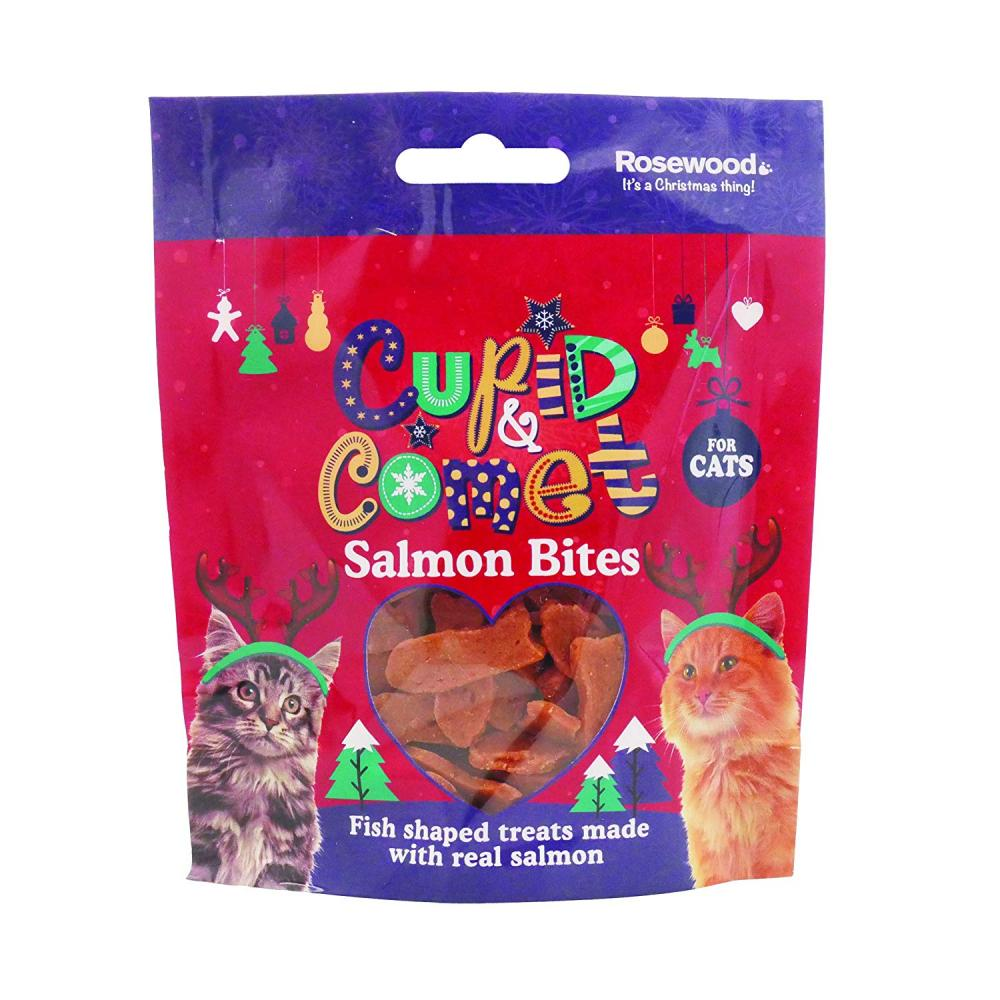 Rosewood Cupid and Comet Rosewood Christmas Salmon Bites For Cats 40 g