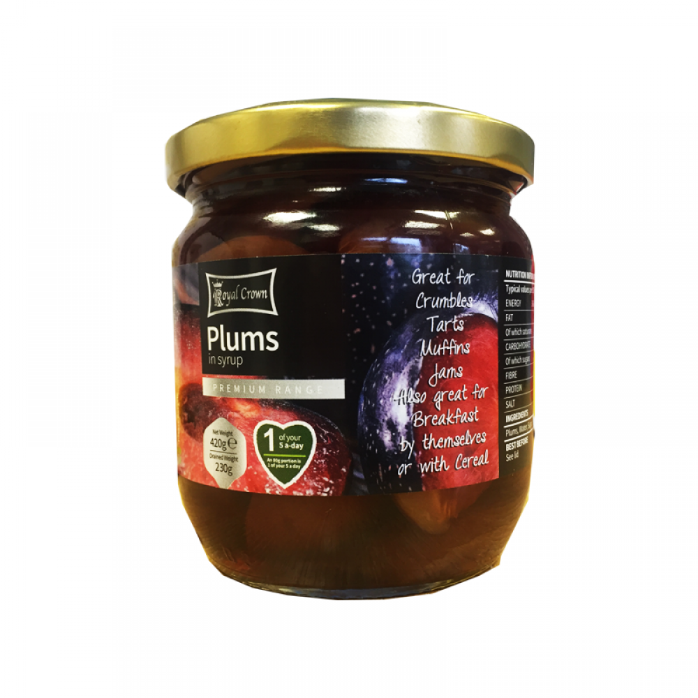 Royal Crown Plums in Syrup 420g