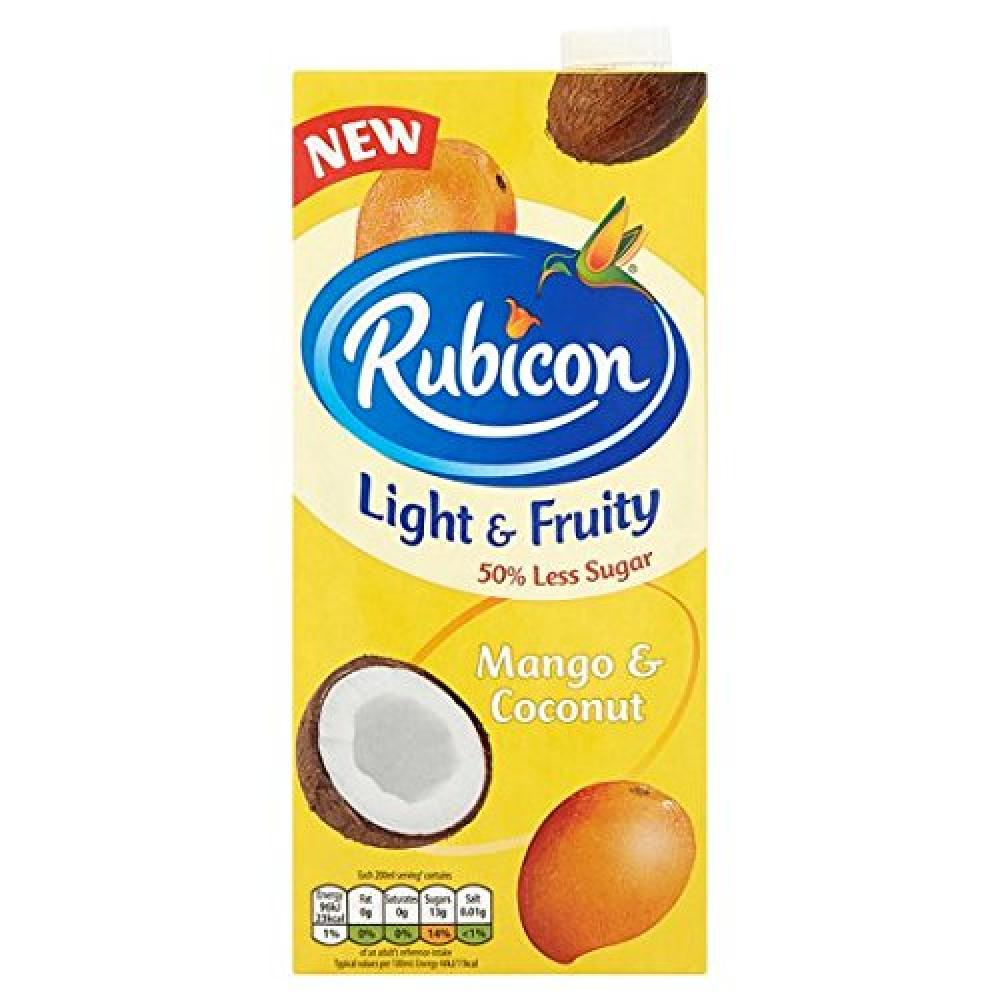Rubicon Lighty and Fruity Mango and Coconut 1Litre