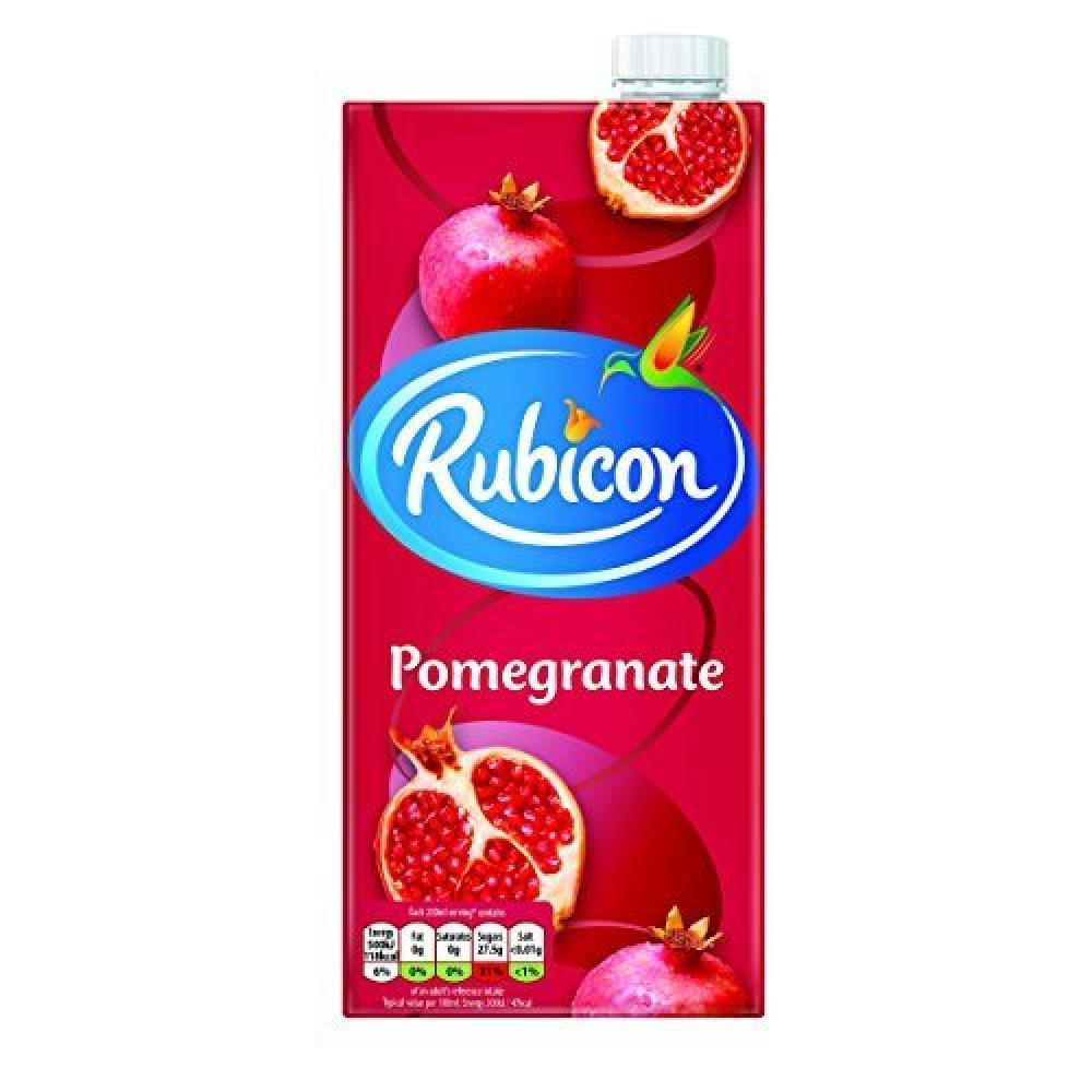 Rubicon Still Pomegranate Juice Drink Cartons 1L