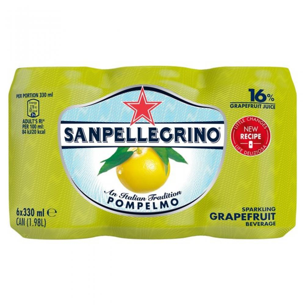 San Pellegrino Pompelmo Sparkling Grapefruit Juice 330ml x 6