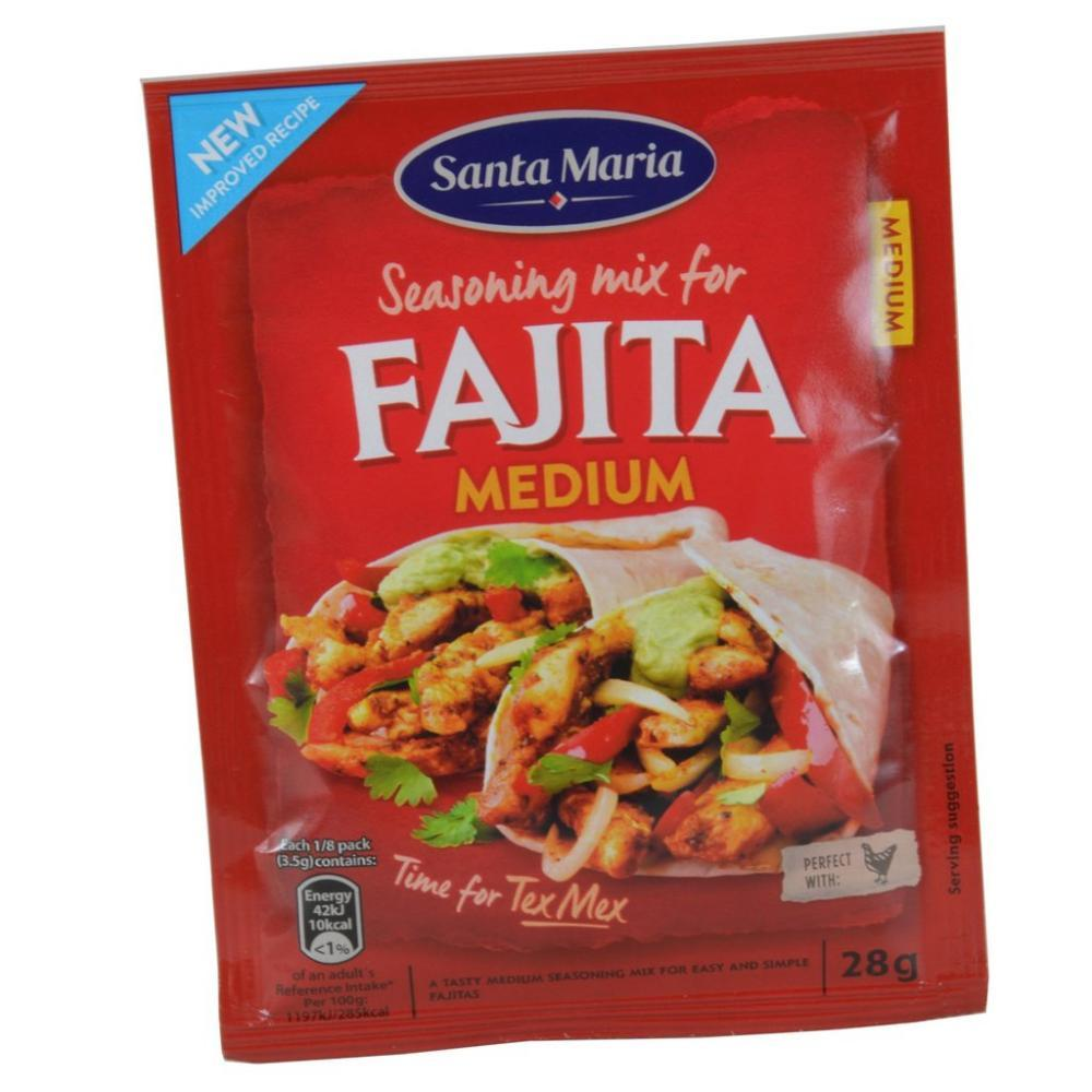 Santa Maria Fajita Medium Seasoning Mix 28g