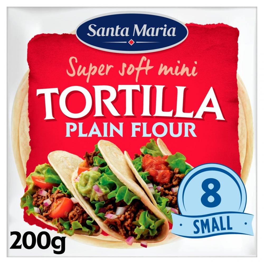 Santa Maria Mini Tortillas Plain Flour 8 Pack
