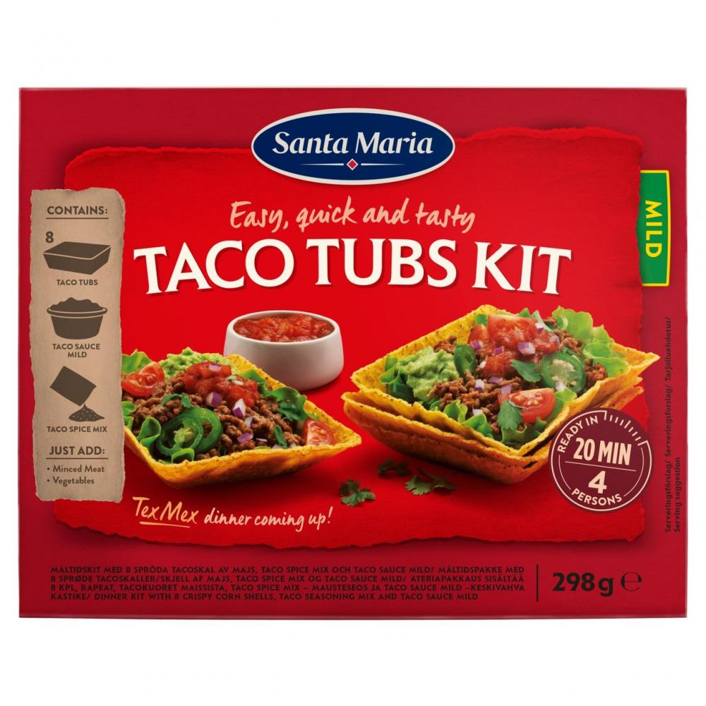 Santa Maria Taco Tubs Kit 298g