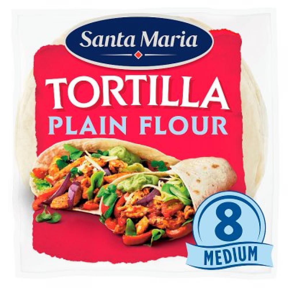 Santa Maria Tortillas Plain Flour 8 Pack 320g