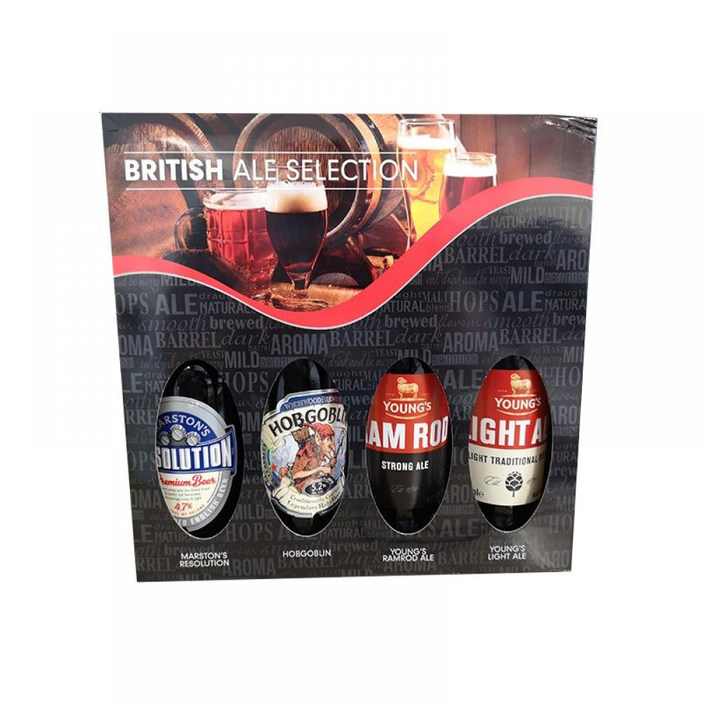 British Ale Selection Glass Bottle 4pk
