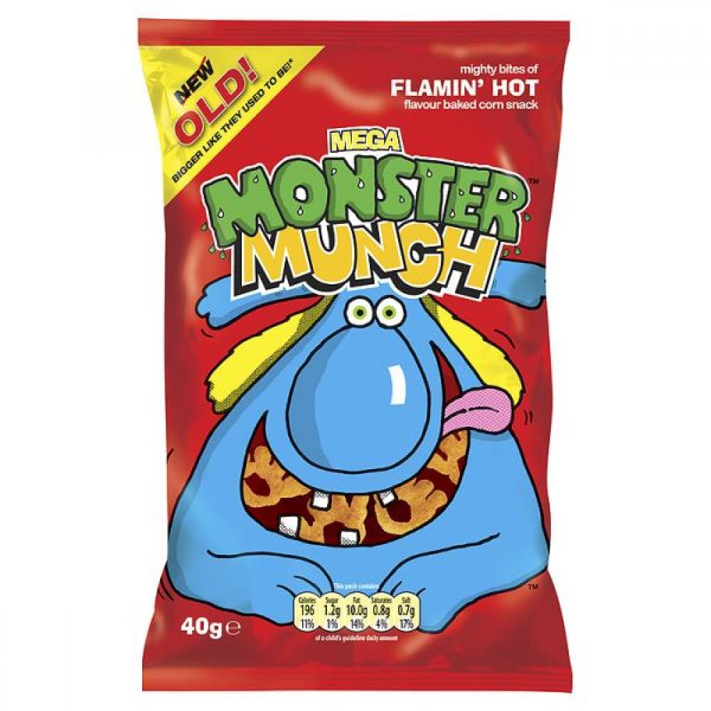 Mega Monster Munch Flamin Hot 40g