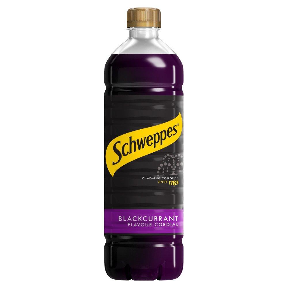 Schweppes Blackcurrant Flavour Cordial 1 Litre