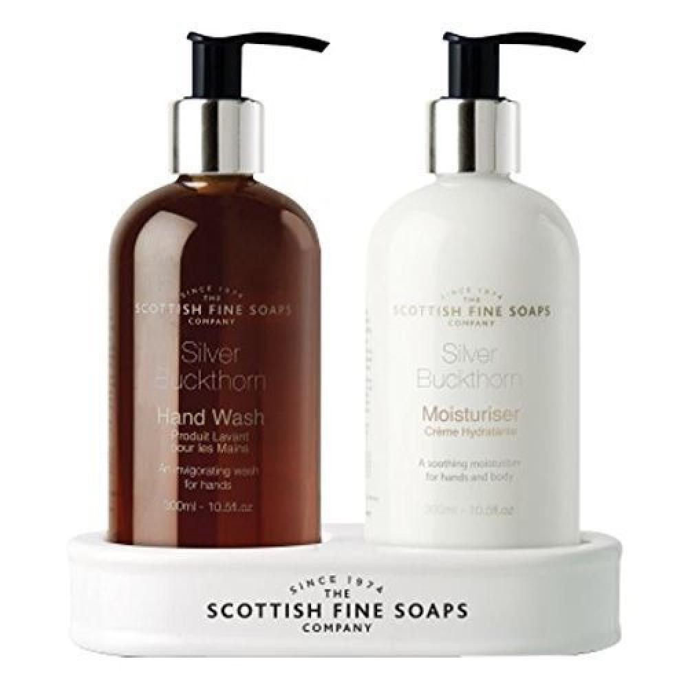 Scottish Fine Soaps Silver Buckthorn Hand Care Set 2x300ml