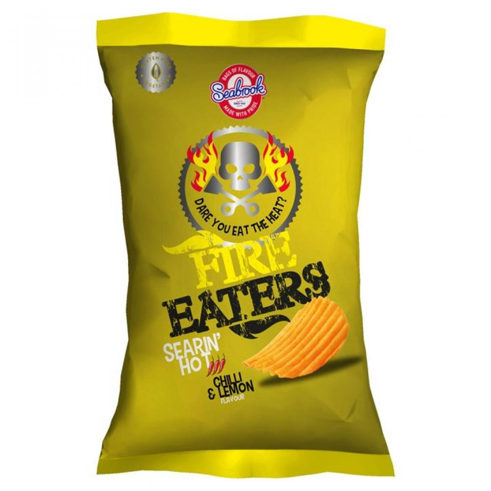 Seabrook Fire Eaters Searin Hot Chilli and Lemon 150g