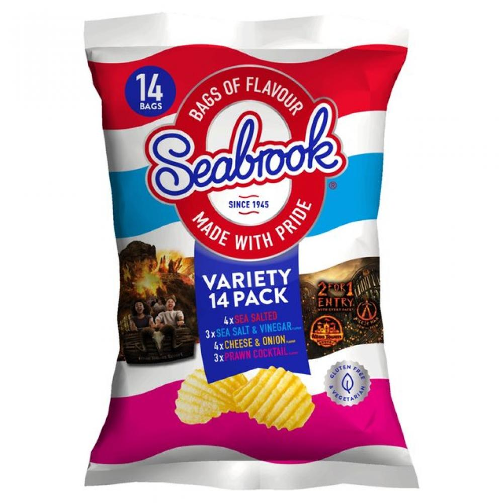 Seabrook Variety Pack 25g x 14