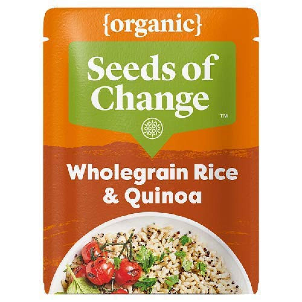 Seeds of Change Organic Quinoa and Wholegrain Microwaveable Rice 240g