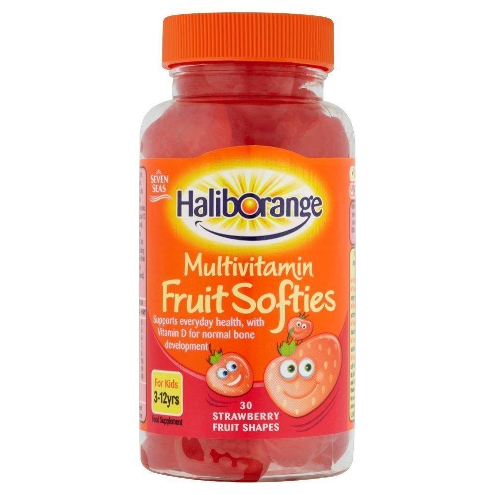 Seven Seas Limited Haliborange Kids Strawberry Multivitamin Fruit Softies 30 softies