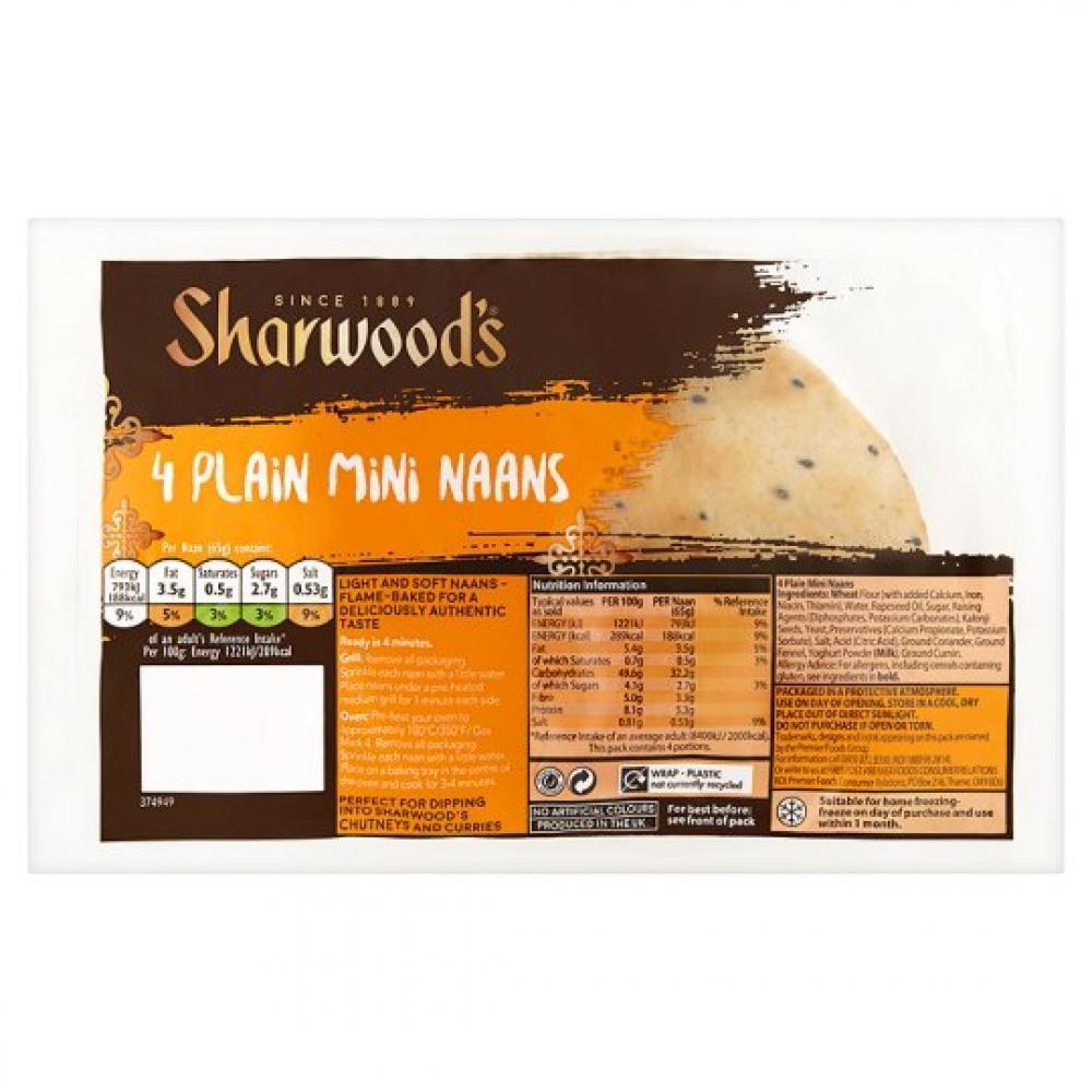 Sharwoods 4 Plain Mini Naans