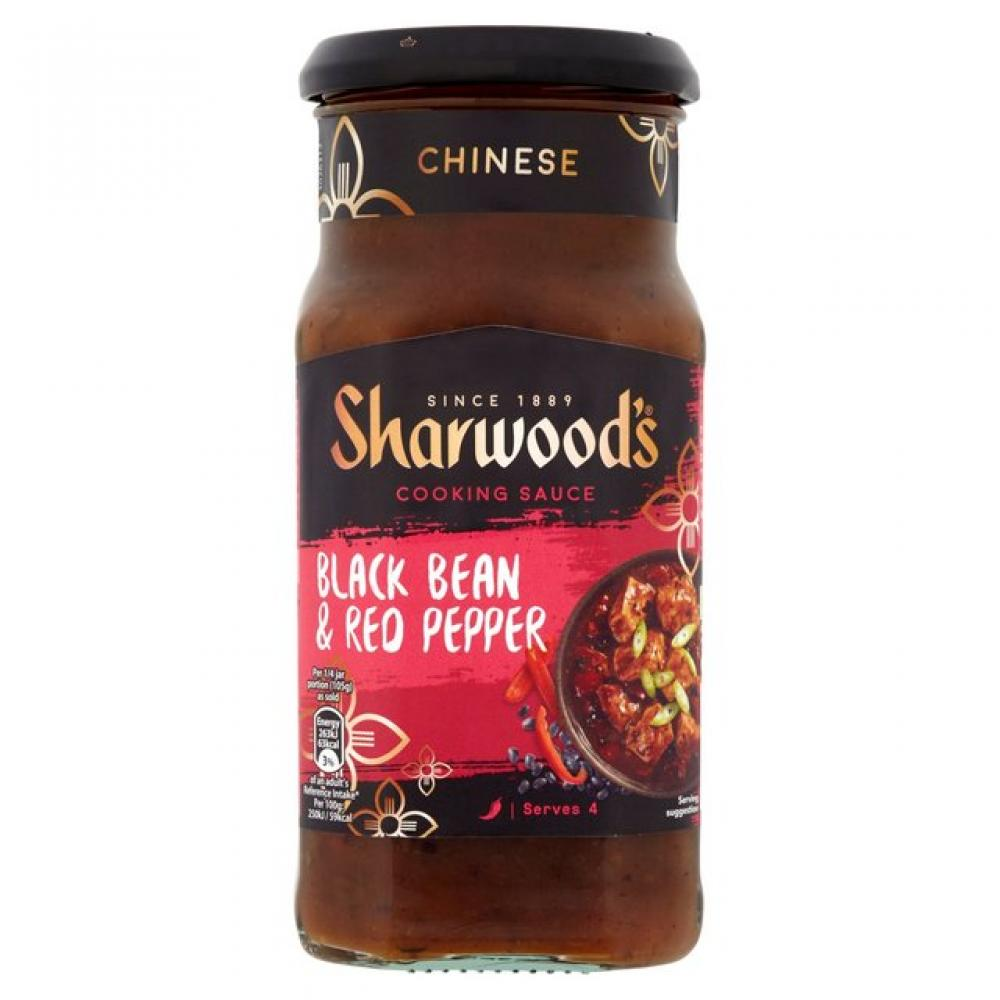 Sharwoods Black Bean And Red Pepper Cooking Sauce 425g