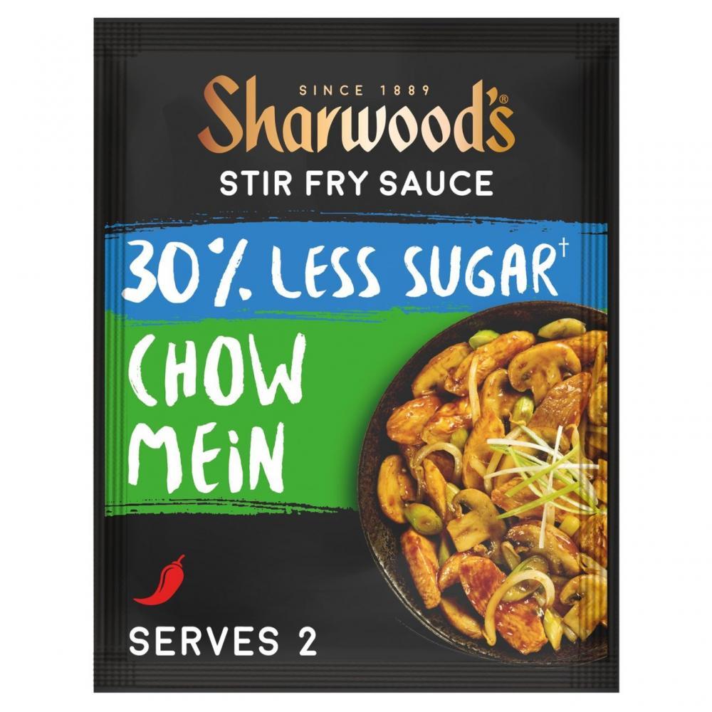 Sharwoods Chow Mein Stir Fry Sauce Less Sugar 120g