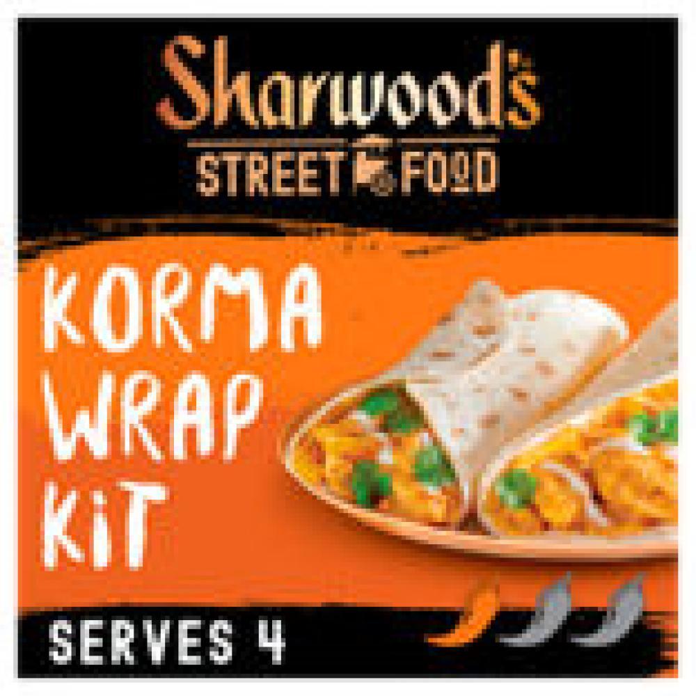 Sharwoods Korma Wrap Kit 476g