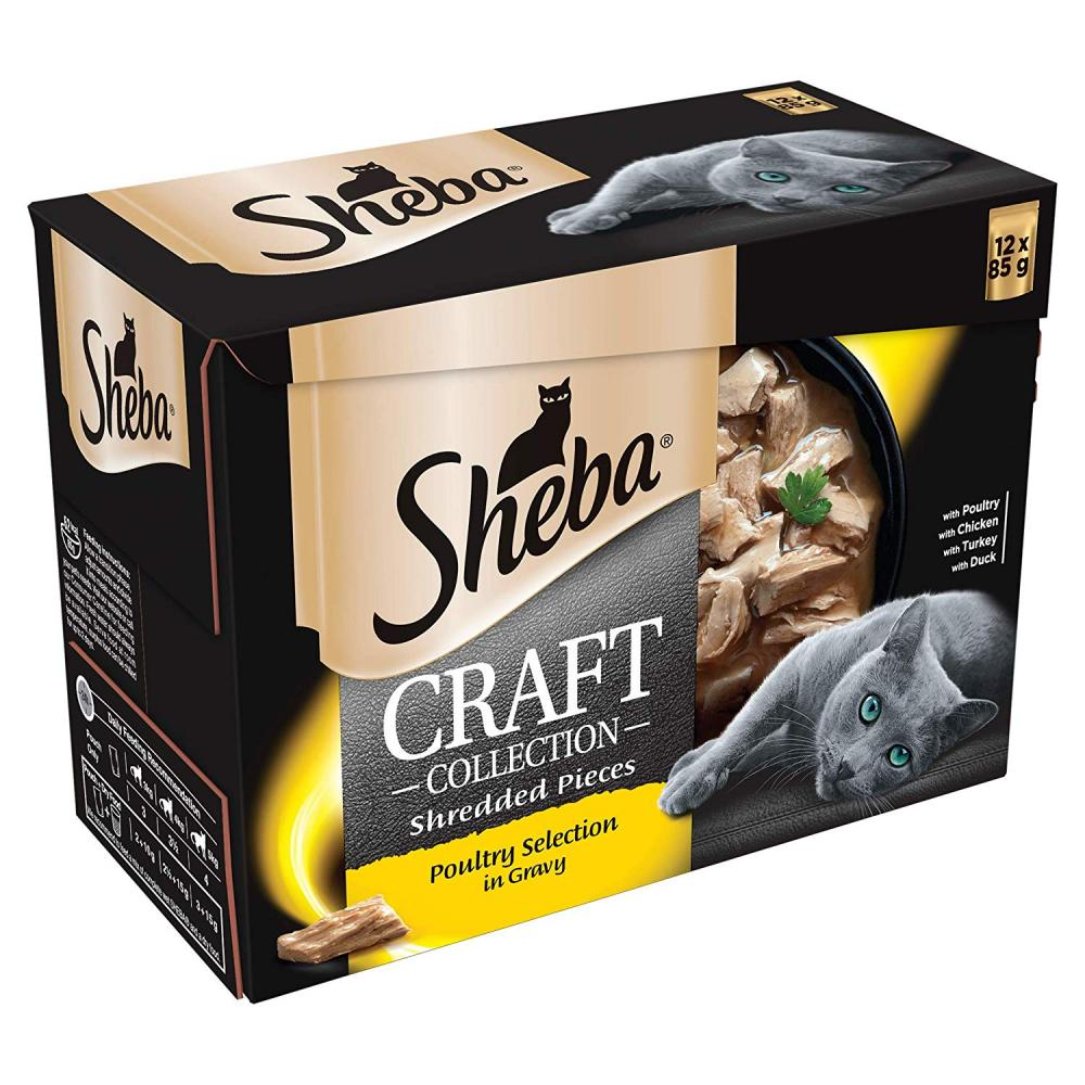 Sheba Craft Collection Selection in Gravy Adult Cat 12x85g