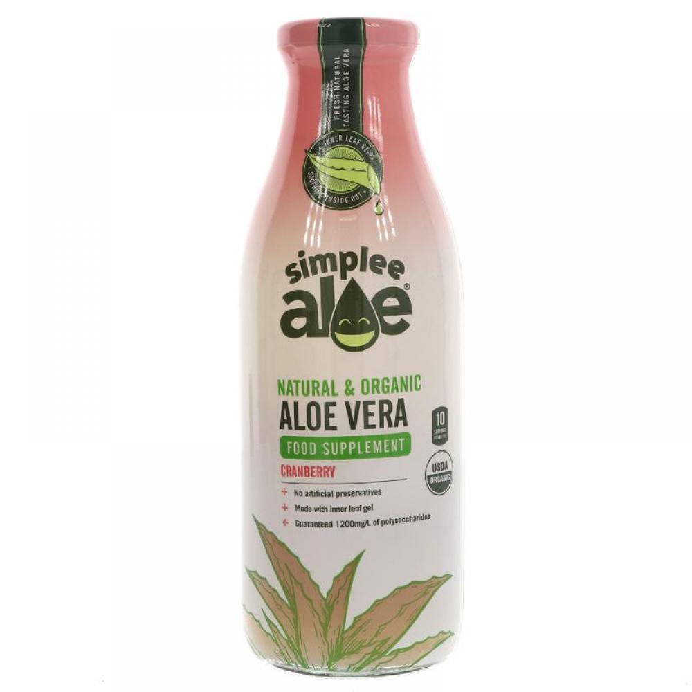Simplee Aloe Aloe Vera Food Suplement Cranberry 500ml