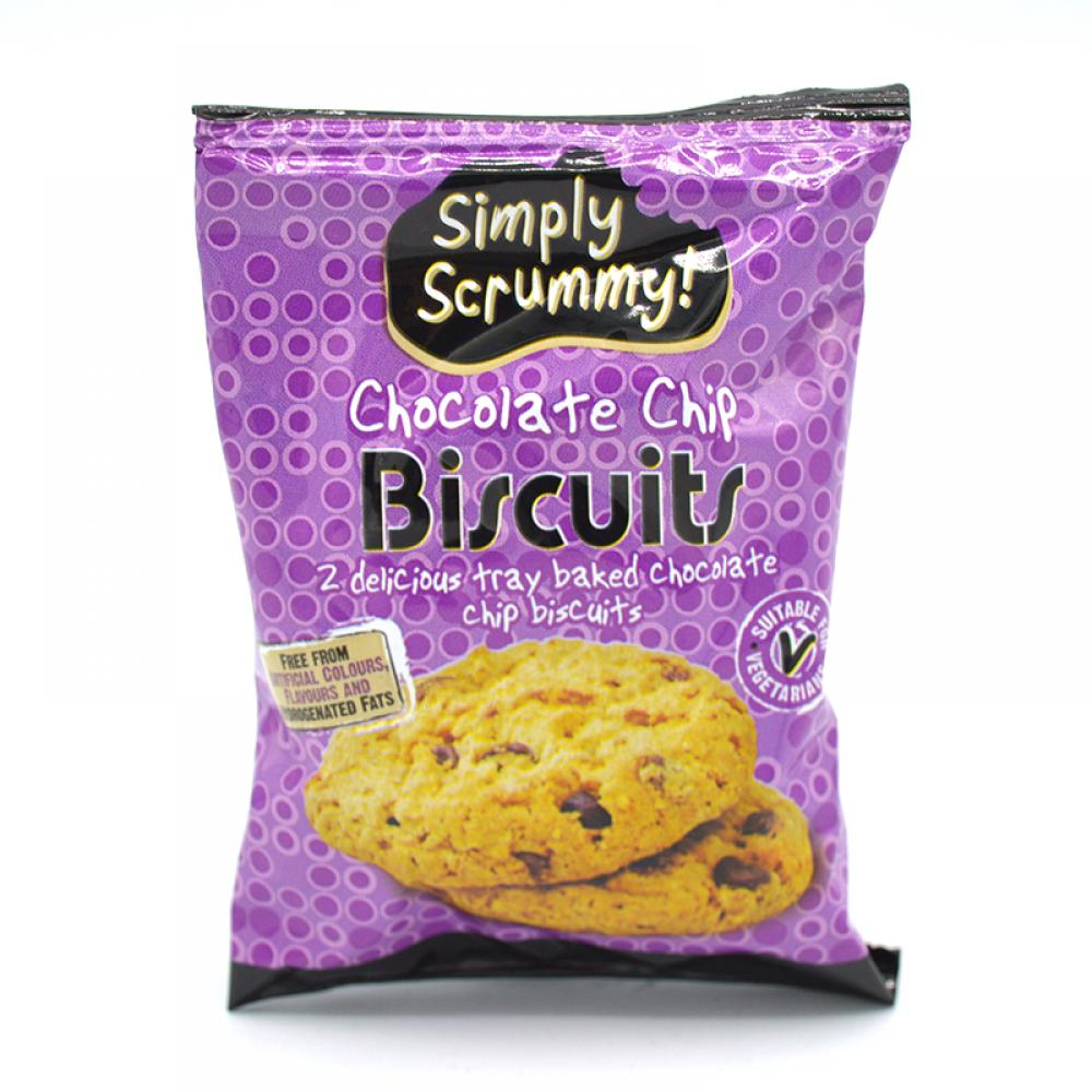 Simply Scrummy Chocolate Chip Biscuits Twin Pack 28g