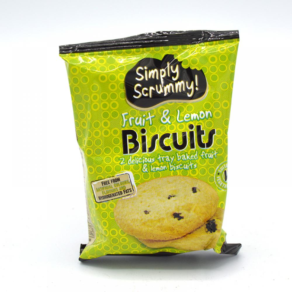 Simply Scrummy Fruit and Lemon Biscuits Twin Pack 28g