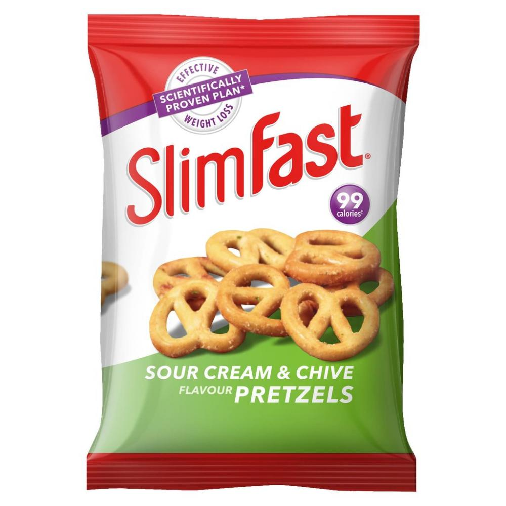 Slim fast Sour Cream And Chives Pretzels 23g