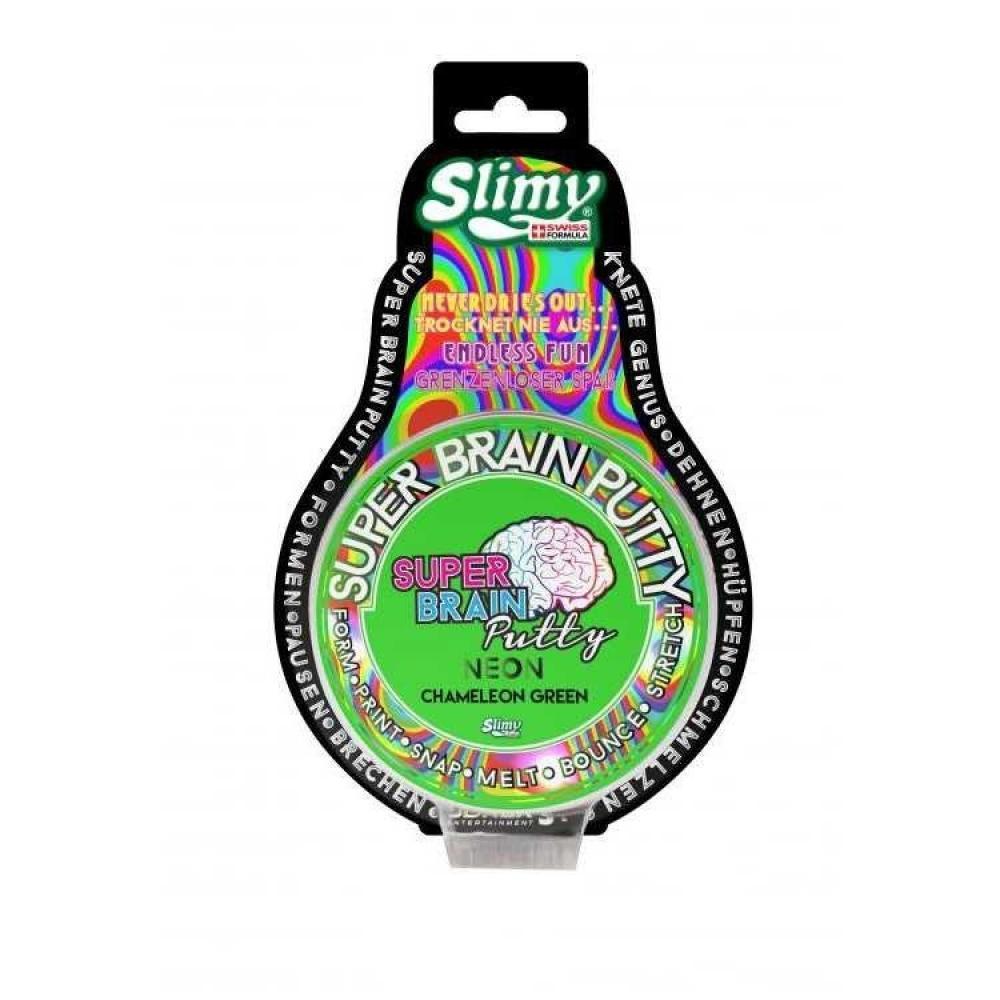 Slimy Super Brain Putty Neon Chameleon Green