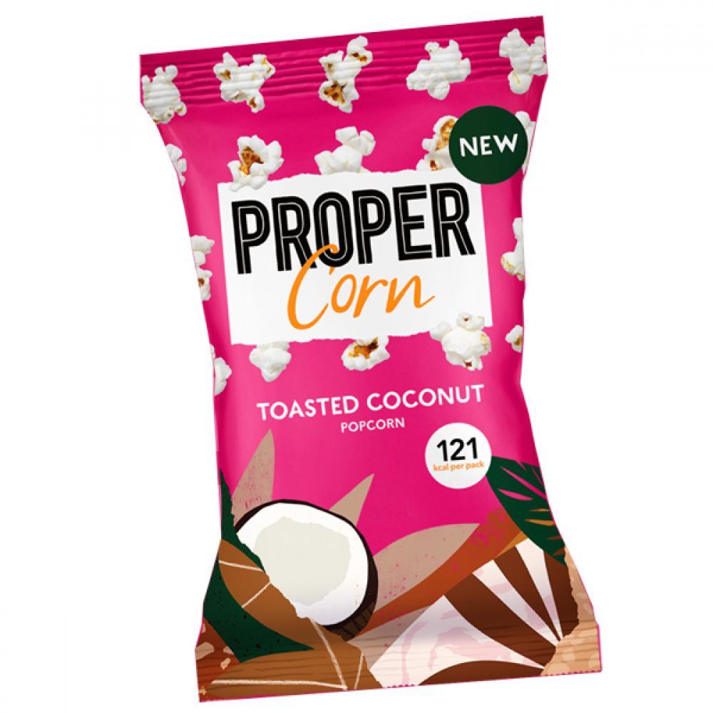 SALE  Propercorn Toasted Coconut Popcorn 25g