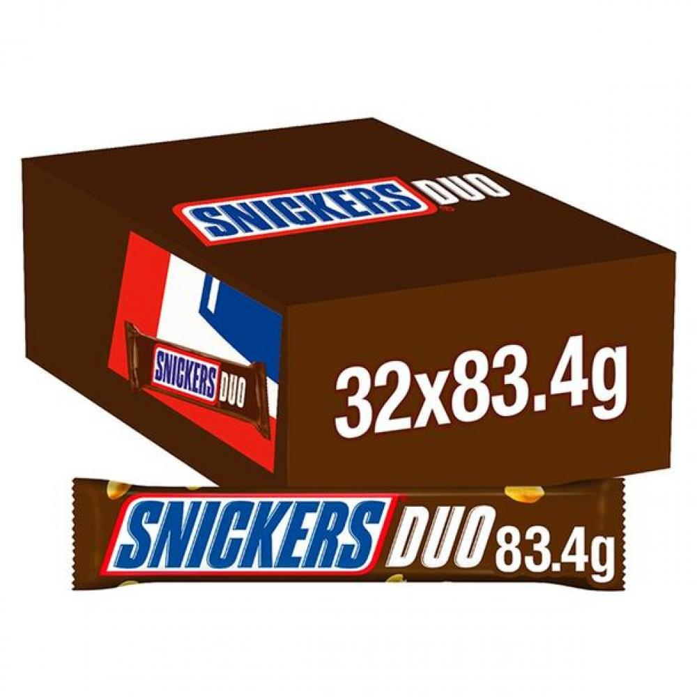 CASE PRICE  Snickers Duo Bar 32 x 83.4g