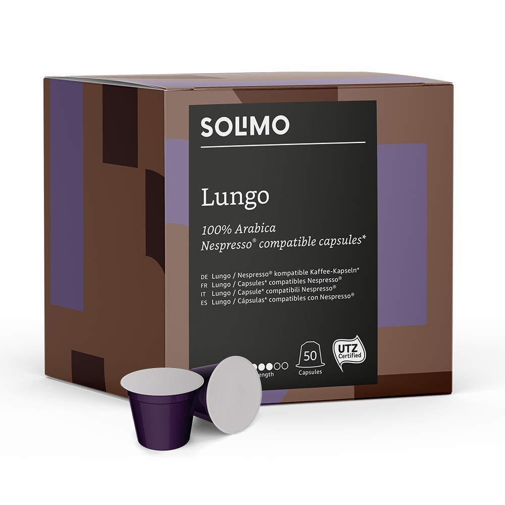 Solimo Lungo Nespresso Compatible Capsules 50 250 g