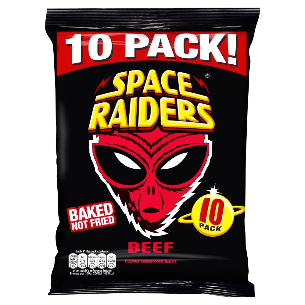 Space Raiders Beef Flavour 11.8g x 10