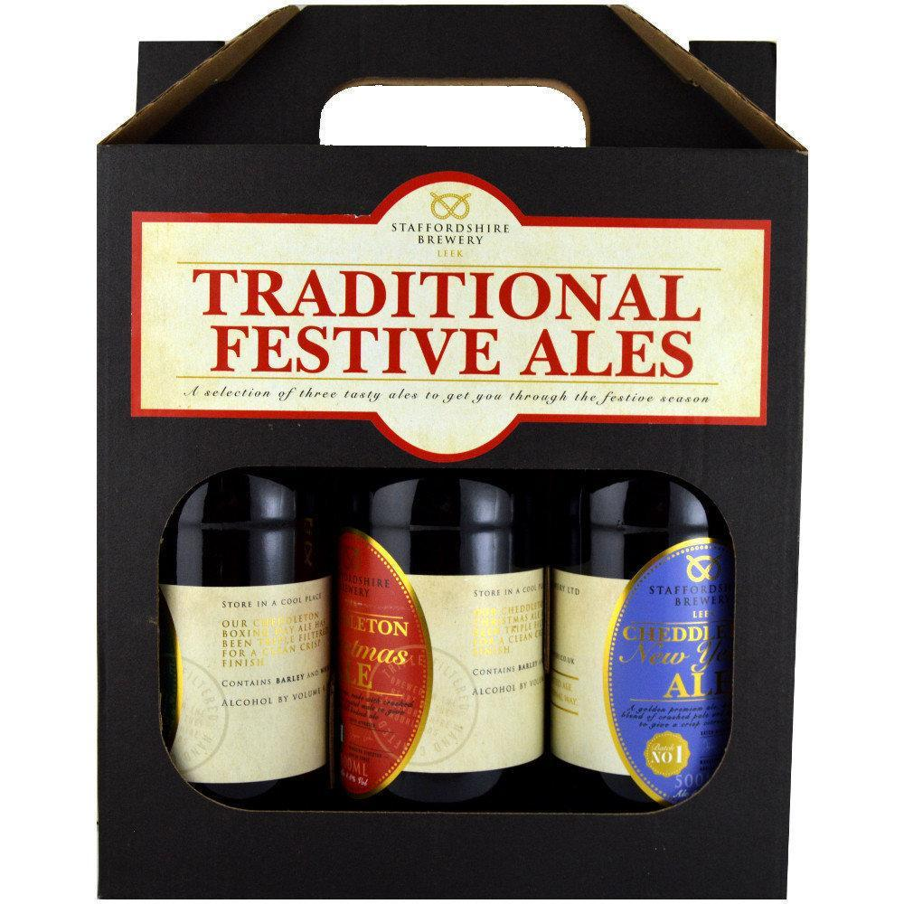 Staffordshire Brewery Traditional Festive Ales 500ml x 3