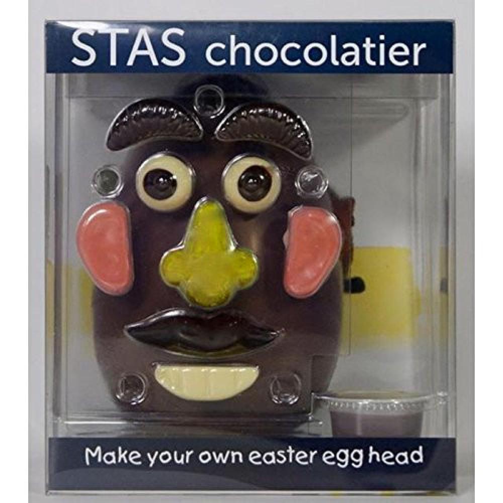 Stas Chocolatier Easter Egg Head 250g