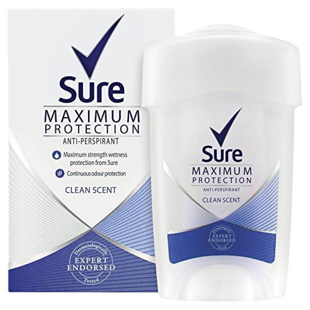 Sure Women Maximum Protection Clean Scent AntiPerspirant Deodorant Cream 45ml Damaged Box