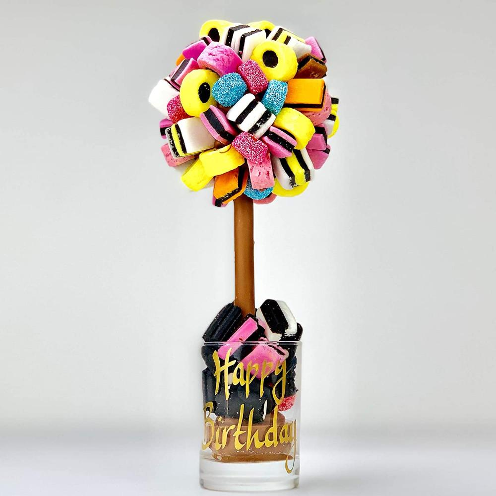 SPRING SALE  Sweet Tree by Browns All Sorts Personalised Sweet TreeHappy Birthday 25 cm