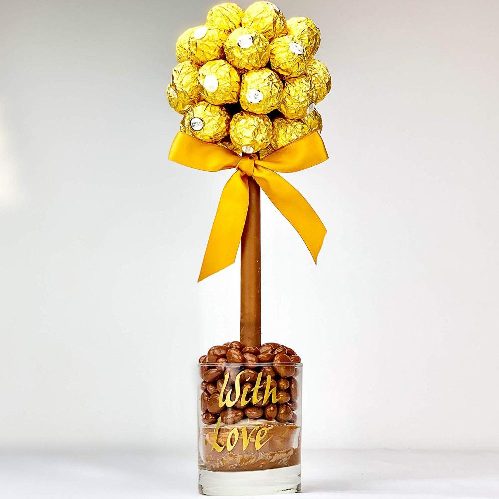 Sweet Trees Ferrero Roche Personalised Sweet Tree With Love 35 cm