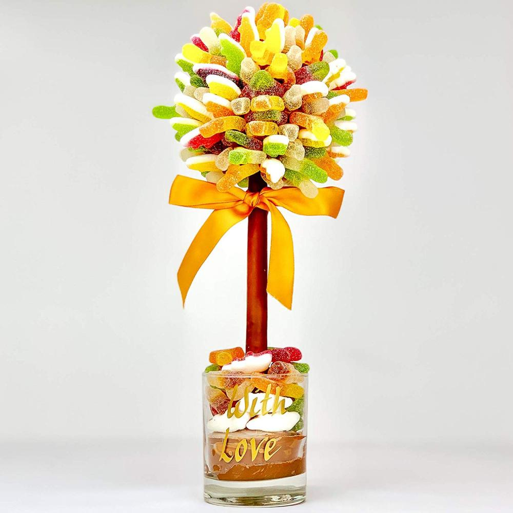 Sweet Trees Fizzy Haribo Personalised Sweet Tree With Love 35 cm