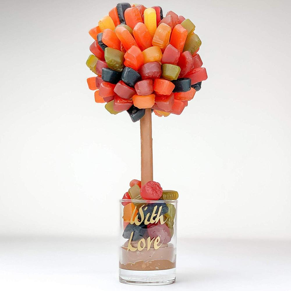 SUPER SATURDAY SALE  Sweet Trees Wine Gum Personalised Sweet Tree With Love 25 cm